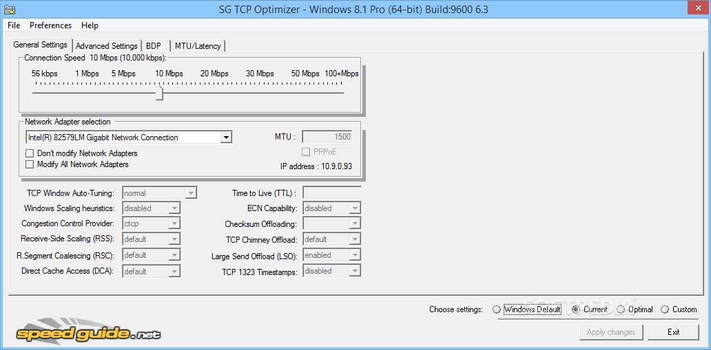 تحميل برنامج لتسريع النت مجانا بضغطة واحدة Download Tcp Optimizer 2020