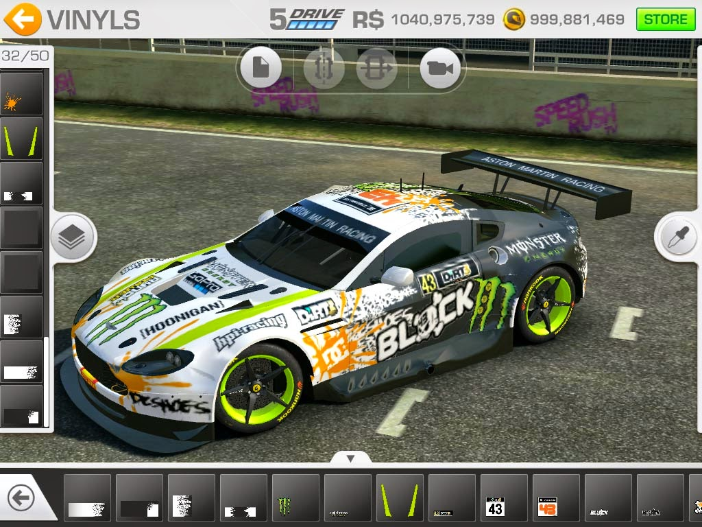 Real racing 3 mod skin livery vinly ken block dc vinyl pack by