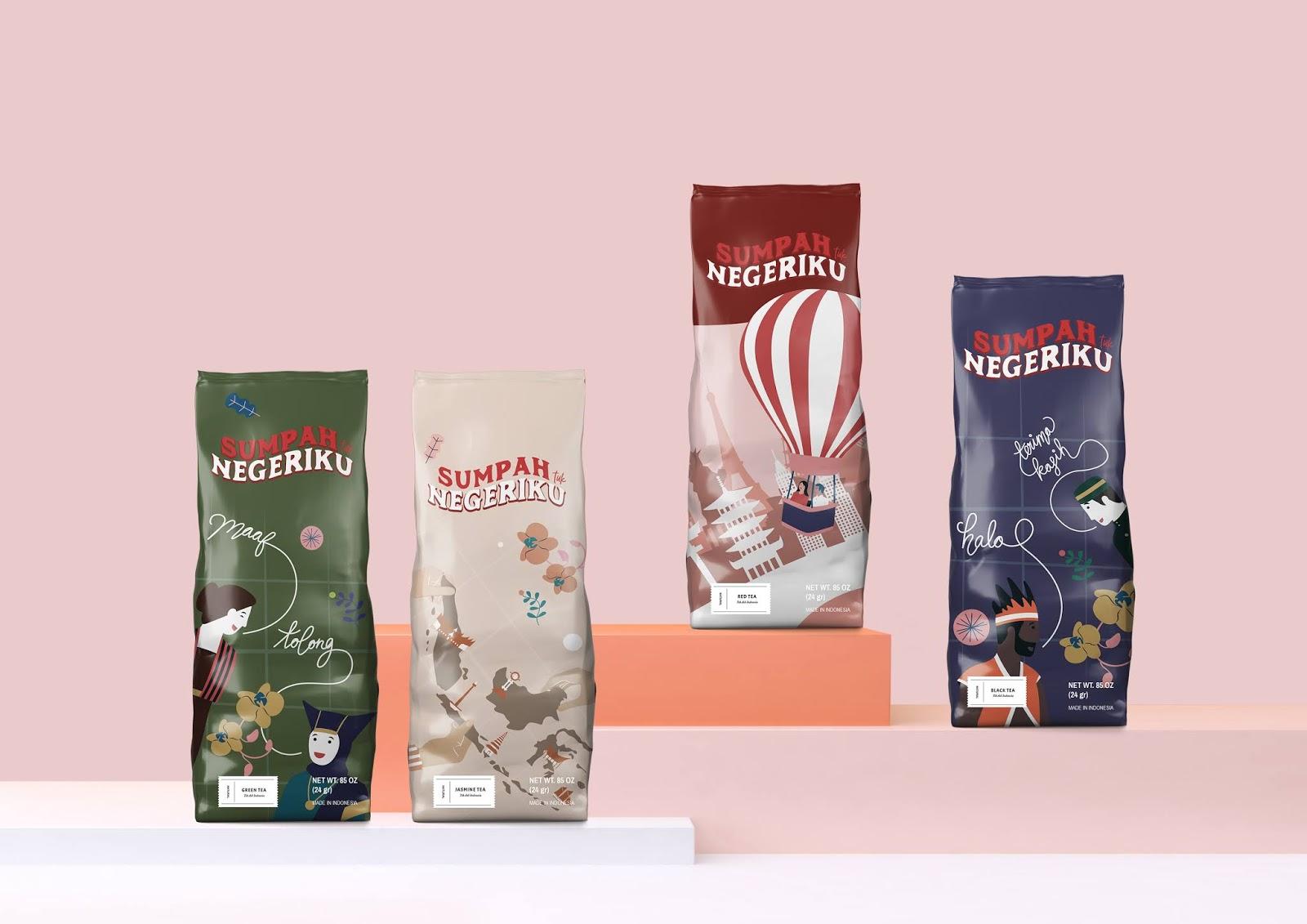 Sumpah Tuk Negeriku (The Youth Pledge) on Packaging of the