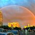 Foto-Foto Pelangi Spektakuler Terlihat Di Beijing