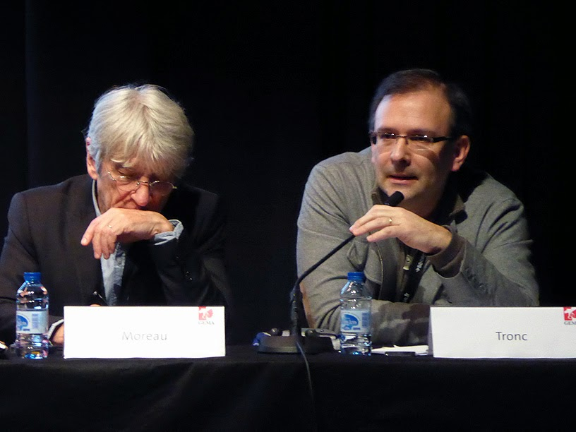 Midem 2014 : Jean-Marie Moreau (Sacem), Jean-Noël Tronc (Sacem) / photo S. Mazars
