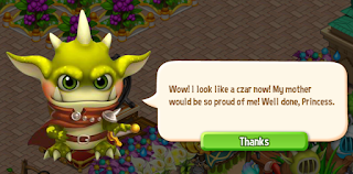 Royal Story, Goblin monster is wearing a carmine cloak