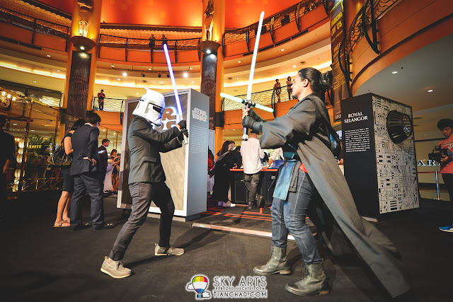 Starwars fans spotted dueling at Star Wars x Royal Selangor Collection Preview