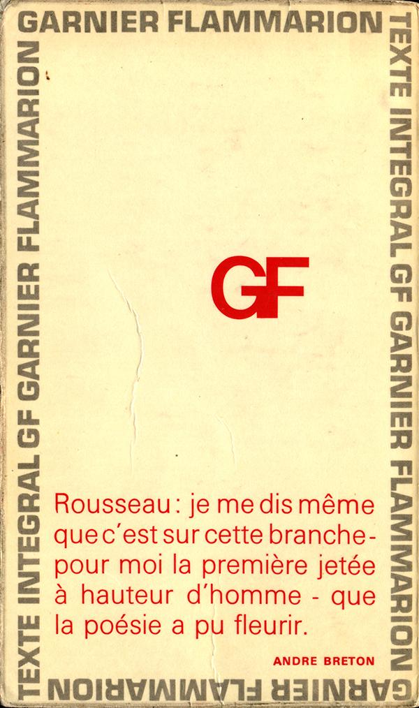 Littérature Singulière Littérature Française Les Rêveries