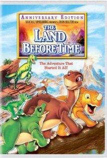 Land Before Time DVD cover 1988 animatedfilmreviews.filminspector.com