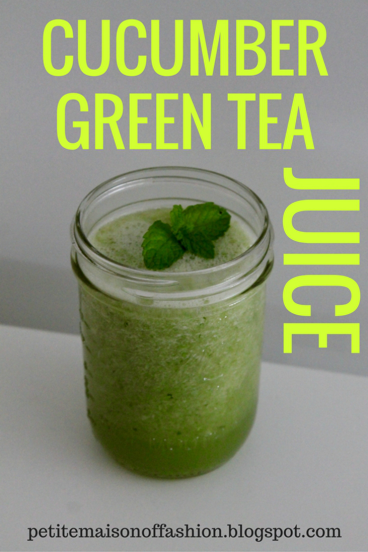 Cucumber Green Tea Juice #smoothies #vegan