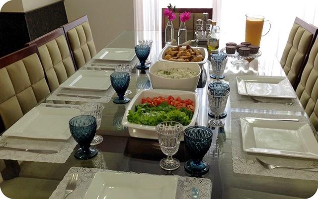 Decoração Almoço de Verão Azul e Branco