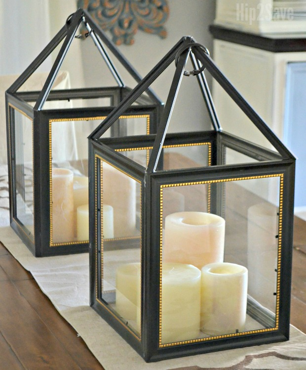Dollar store plastic frames turned beautiful lantern