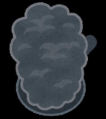 煙が出るフライパンのイラスト