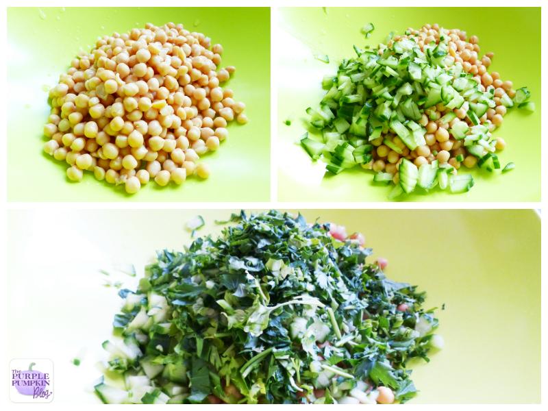 Chickpea + Cucumber #Salad with Tahini Dressing [#MorrisonsMum]