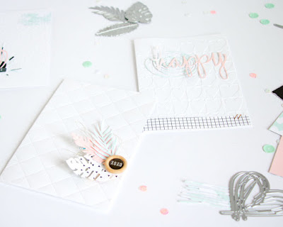 Embossed Cards by ScatteredConfetti // #cardmaking #scrapbooking #sizzix #bigshot