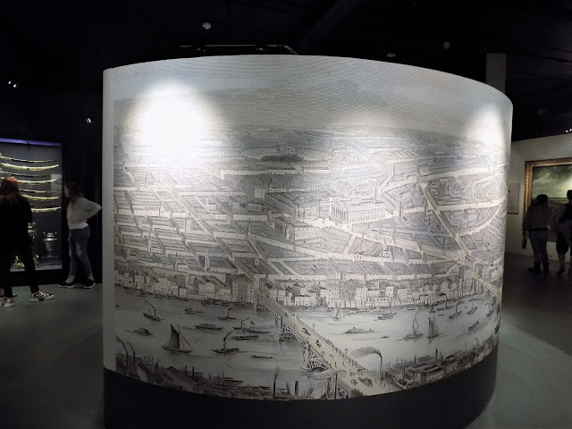 Panorama of London engraved by S.C.Smyth,1845 at National Maritime Museum