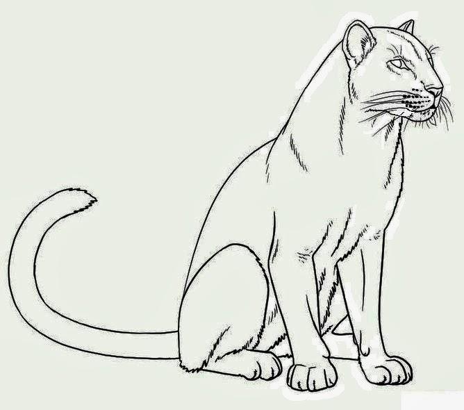 Panther tattoo stencil
