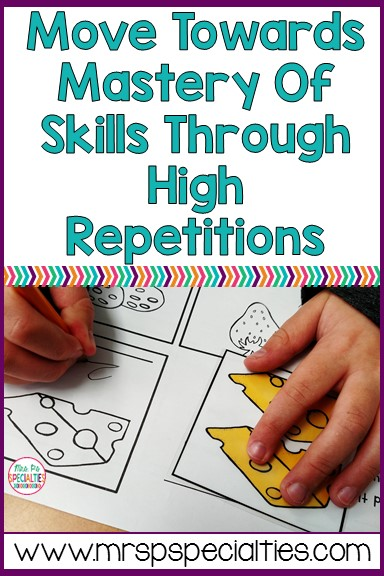 Most students with disabilities need a high level of repetition in order to achieve mastery on a given skill. The tricky part... fitting it in, not boring your students and how and where to find enough of the same tasks. Here are some tips on how to conquer those tricky parts!