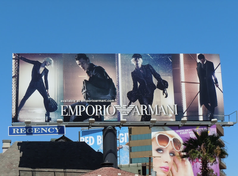 Emporio Armani FW 2011 fashion billboard