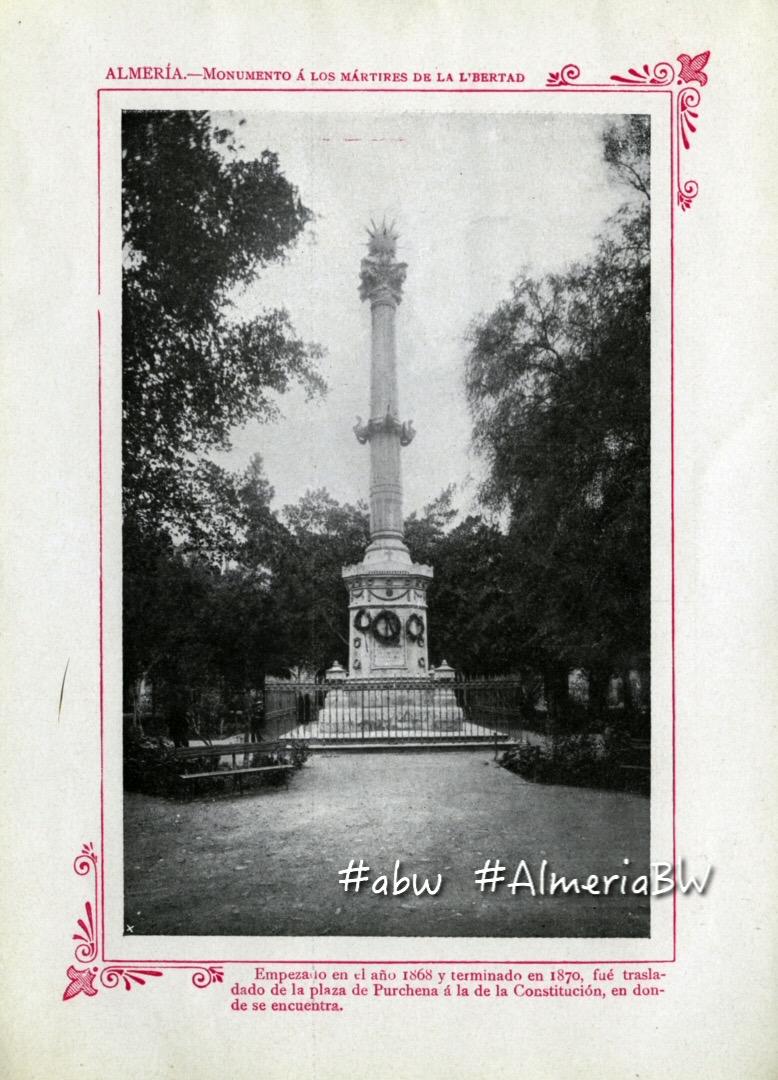 Fotos Antiguas De Almería 1909 El Antiguo Monumento A Los Coloraos
