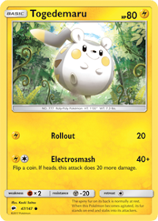 Togedemaru Burning Shadows Pokemon Card