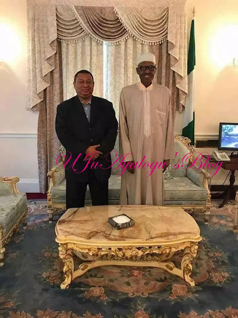 President Buhari receives OPEC secretary-general in London (photo)