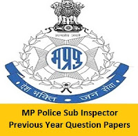 MP Police Sub Inspector Previous Year Question Papers
