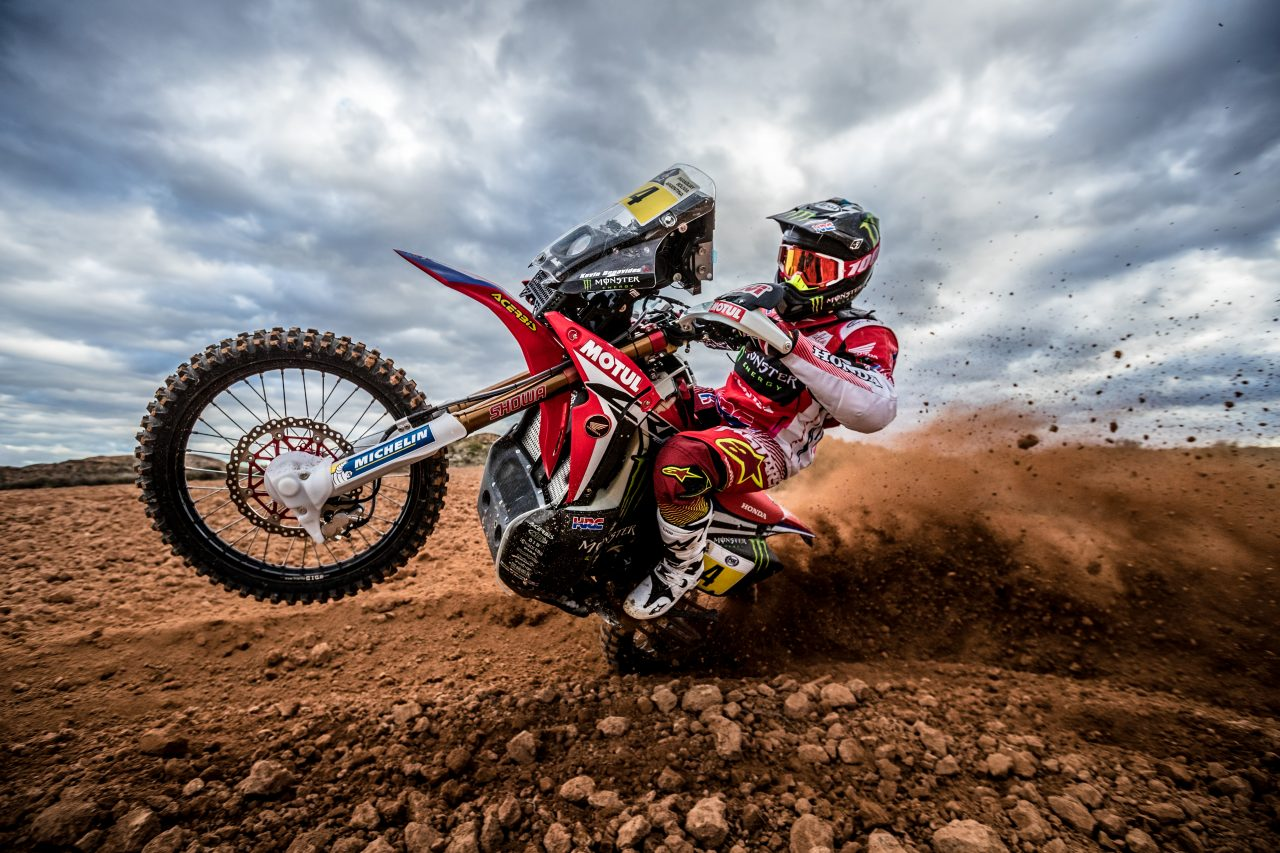 Racing Caf 232 Honda Crf 450 Rally Team Monster Energy Honda