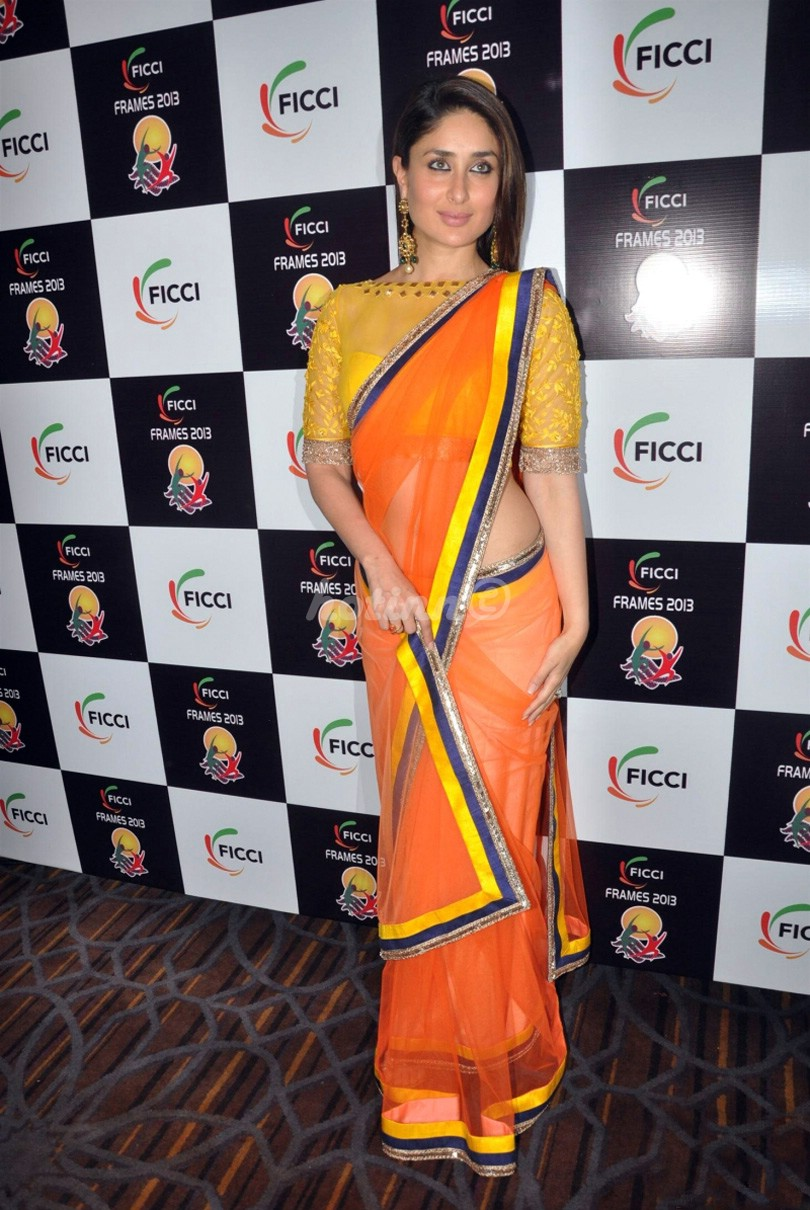 Bollywood actress kareena kapoor in saree