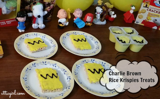 Charlie Brown Rice Krispies Treats