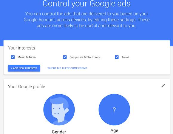 google updates ad settings