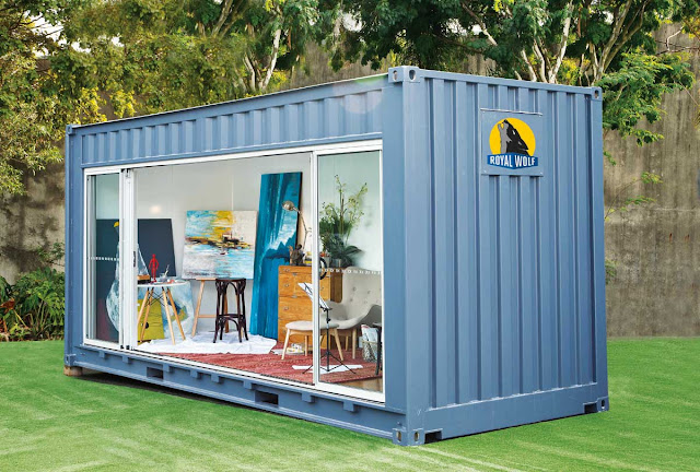 20 foot Shipping Container Outdoor Room by Royal Wolf 4