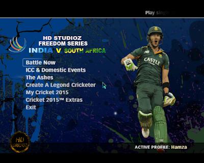 HD Studioz Paytm Freedom Sreies 2015 - India vs South Africa Patch  Screenshot