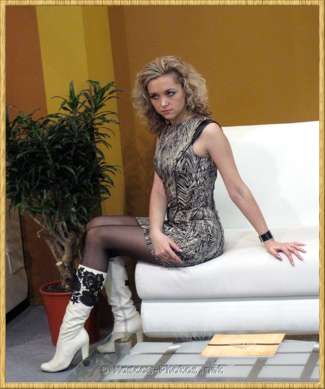 Girl In High Heel Boots