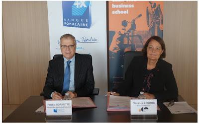 Signature d'une convention de partenariat entre la Banque Populaire  Alsace Lorraine Champagne et ICN Business School