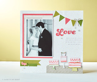 Celebrate with Cake CTMH Stamp Set Scrapbook Layout