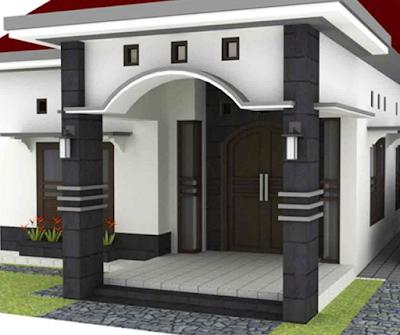 tiang rumah dari batu alam terbaru