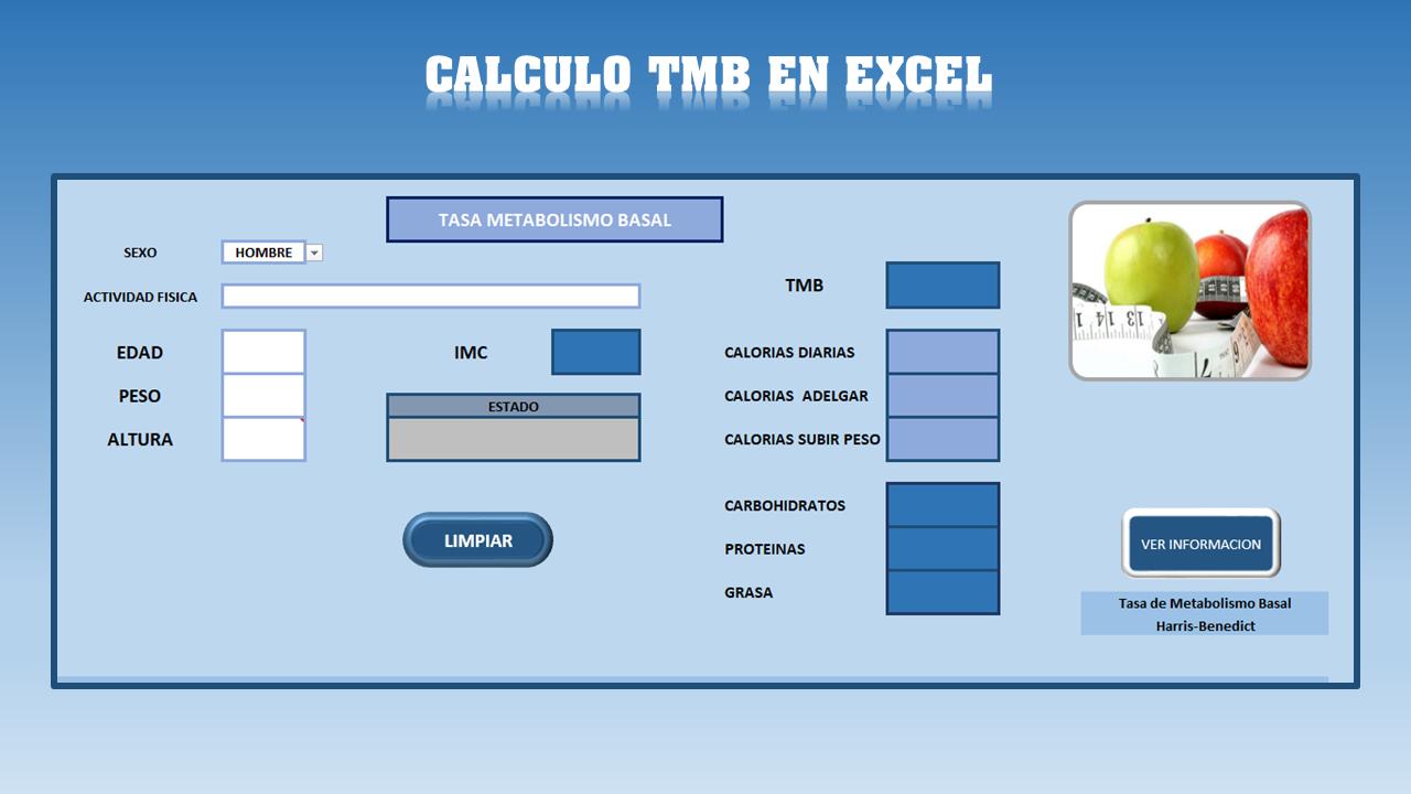Calculadora de calorias metabolismo basal