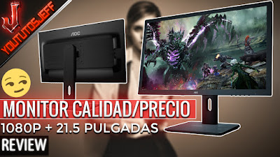 AOC E2275PWJ 21.5 uno de los mejores monitores calidad precio con una pantalla que puedes ponerla en la forma que desees, lateral o vertical.