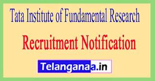 Tata Institute of Fundamental Research TIFR Recruitment Notification 2017
