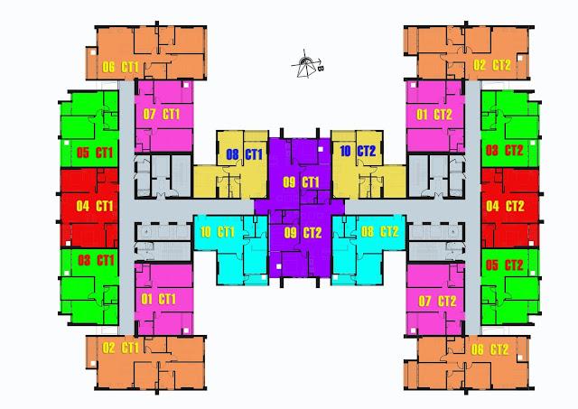 Mặt bằng tổng thể căn hộ Mỹ Đình Plaza 2