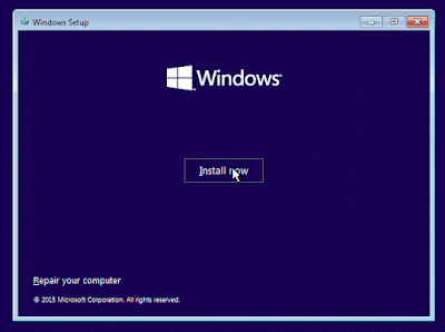 Panduan Instal Windows 10