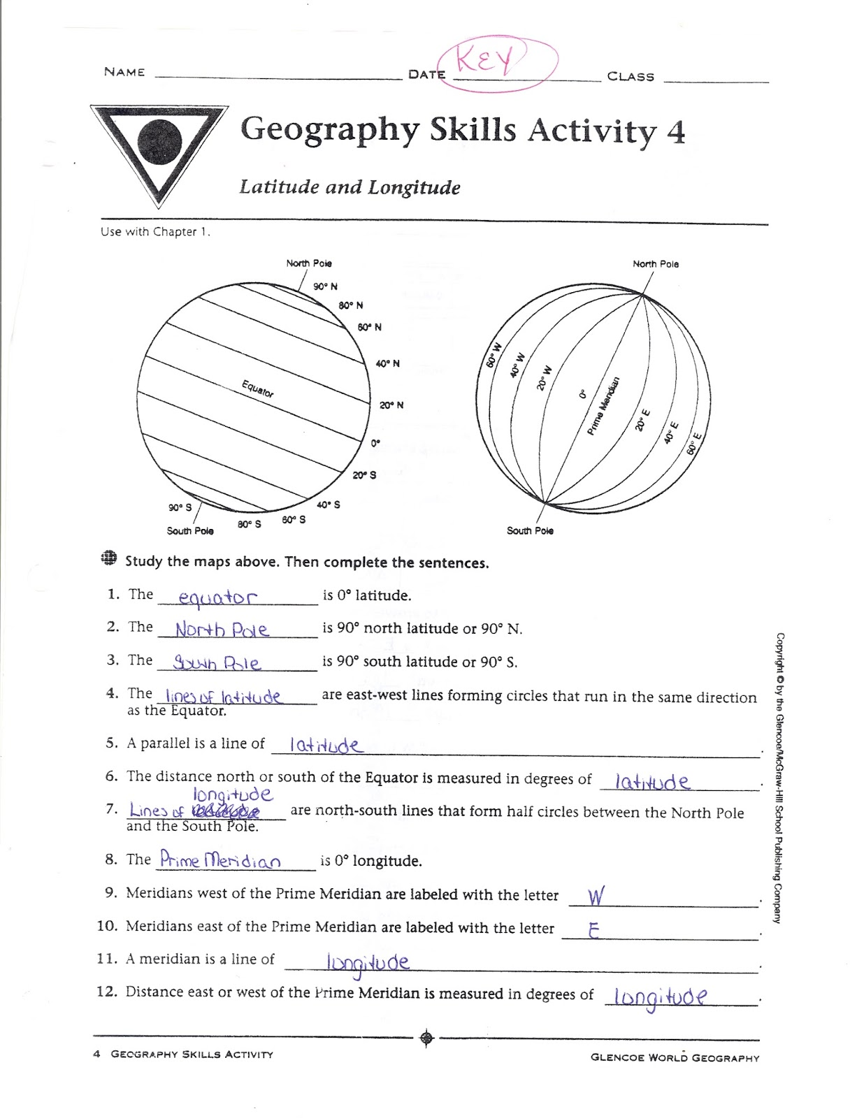 Mr E S World Geography Page August