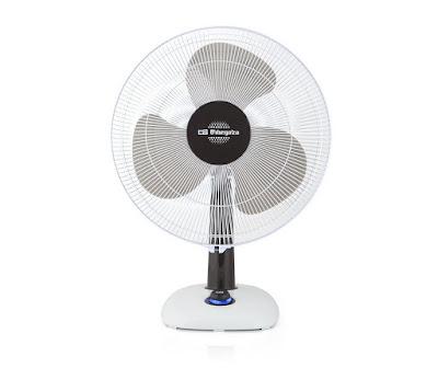 Orbegozo TF 0133 - Ventilador de sobremesa, oscilante, potencia 40 W, 3 velocidades, diámetro hélice 30 cm, asa, piloto luminoso LED