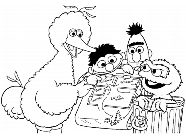 sesame street coloring pages numbers 1 | sesame street coloring pages | Minister Coloring