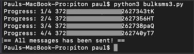 python free SMS