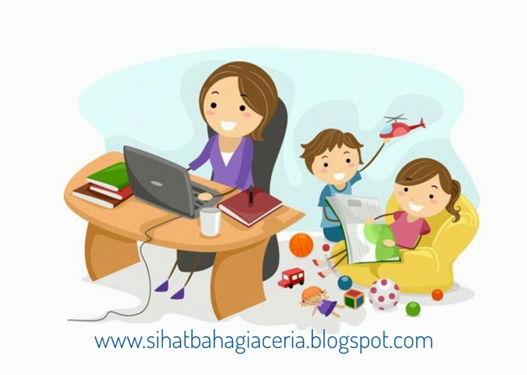 Gambar Kartun Ibu Bekerja