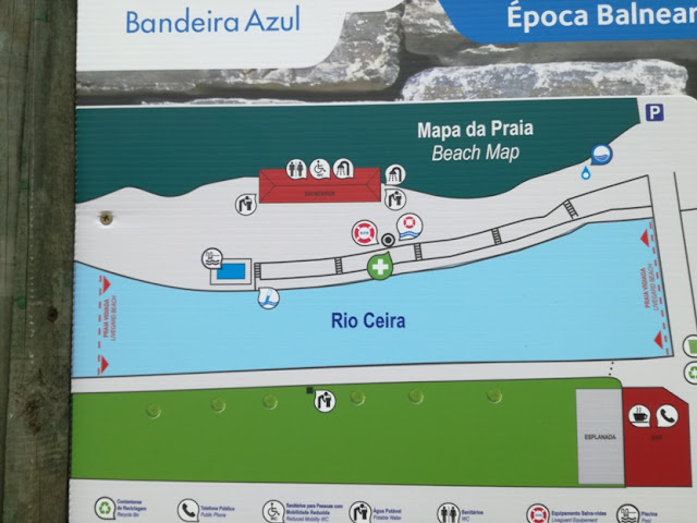Mapa da Praia de Serpins