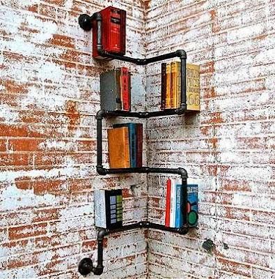 Rak Buku Unik Untuk Pemanis Interior Living Room