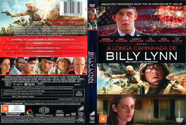 Capa DVD A Longa Caminhada de Billy Lynn