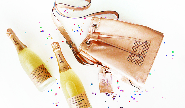 Freixenet x Michael Michalsky, metallic bag, giveaway