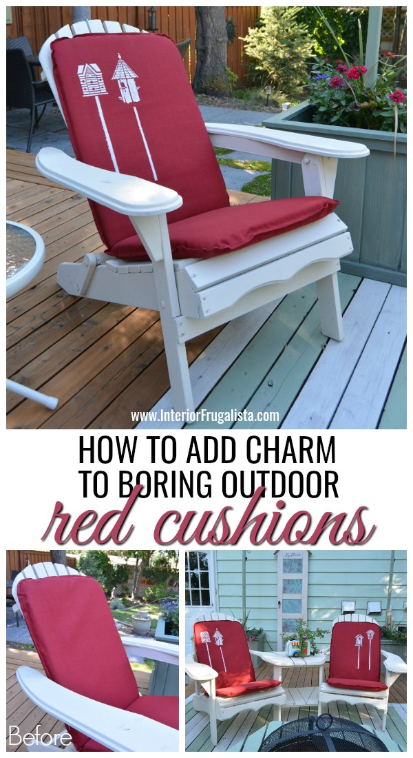 How To Add Charm to Boring Outdoor Red Cushions