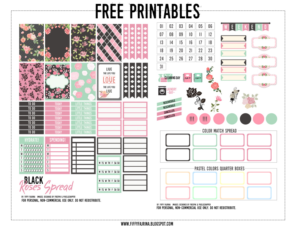 This is a photo of Trust Free Happy Planner Printables