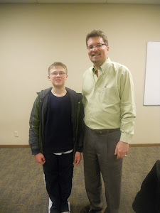Kenny with Todd Henry, President of the Washington & Oregon Tourette Syndrome Association.